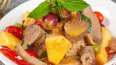 photo of Thai red curry with duck recipe done
