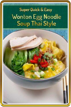 photo of Thai egg noodle wonton soup