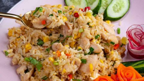photo of awesome chicken fried rice Tha style