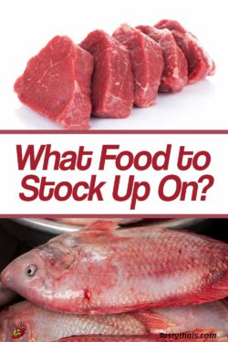 photo of meat and fish as a choice for stocking up while self-isolating during cornavirus