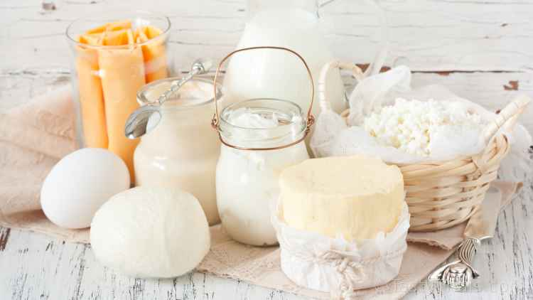 photo of dairy produce for long term stock which can be adapted or substituted for longer life and space saving when deciding what food to stock up on