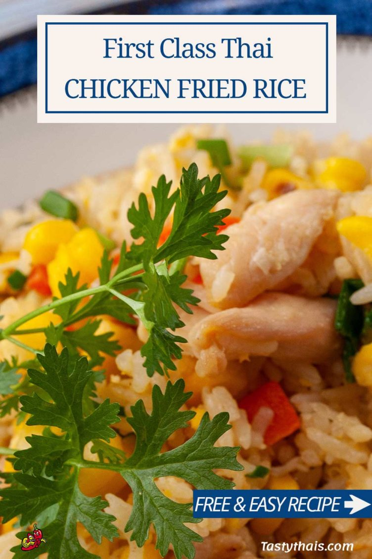 photo of the best thai chicken fried rice on the planet