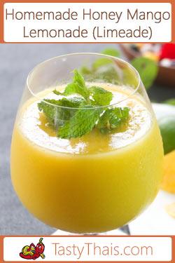 Homemade Honey Mango Limeade