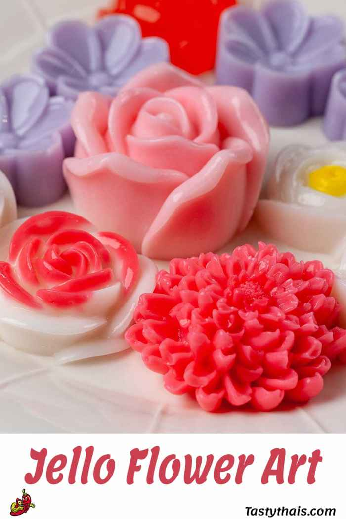 Coconut & Strawberry Jello Art Flowers - Kid & Vegan Friendly Agar Agar Art Desserts