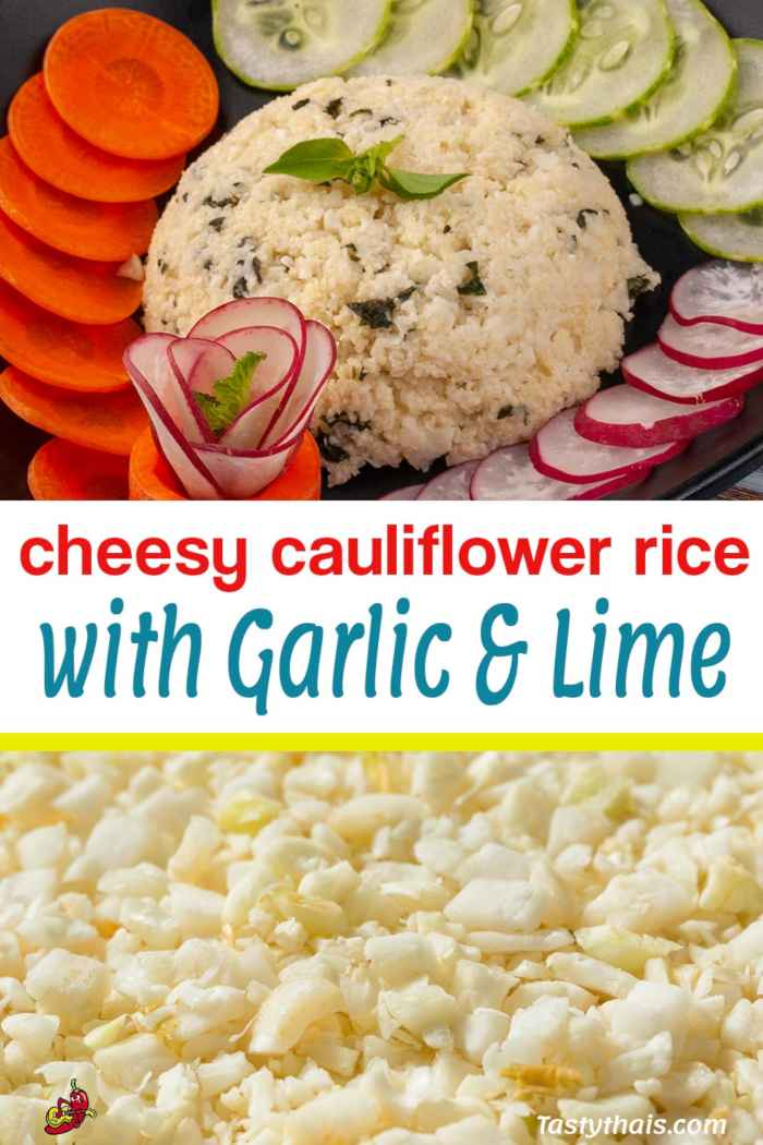 This Cheesy Cauliflower Rice with Garlic & Lime dish is truly scrumptious