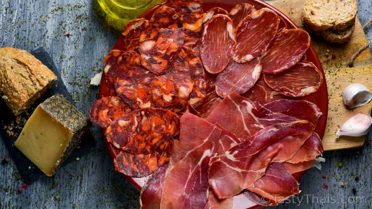 photo of cured meats as a food item to consider if you have to self-isolate during the coronavirus pandemic