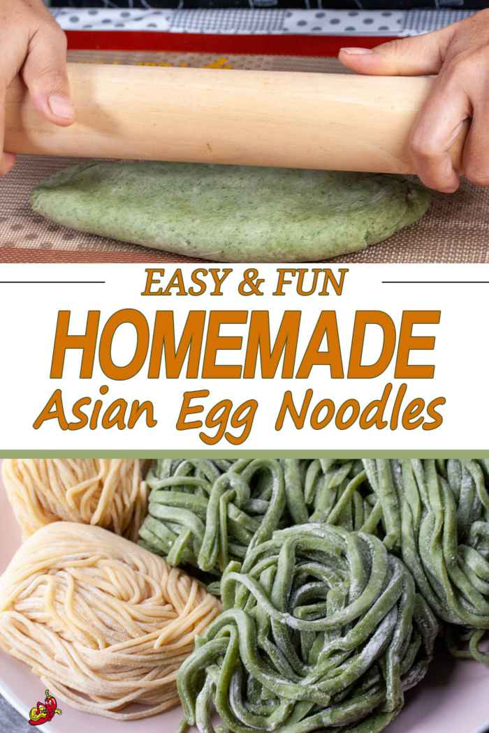 Making Homemade Asian Egg Noodles is Fun for kids and adults