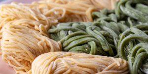 Homemade Egg Noodles Recipe Up Close Featured