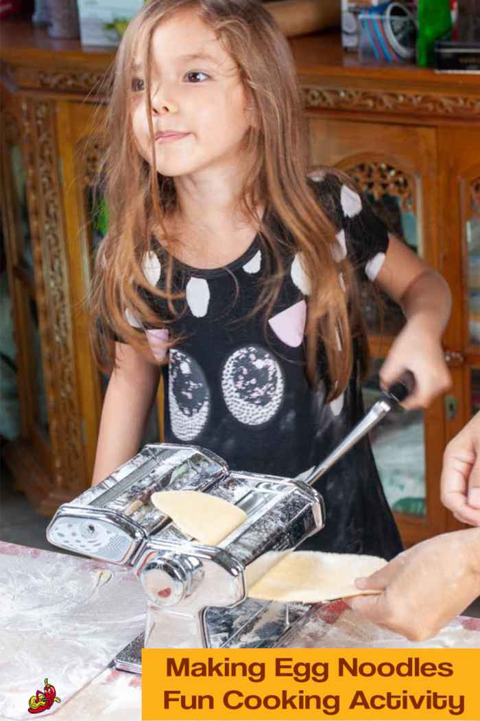 Making homemade noodles is a fun activity for children and a great introduction to cooking