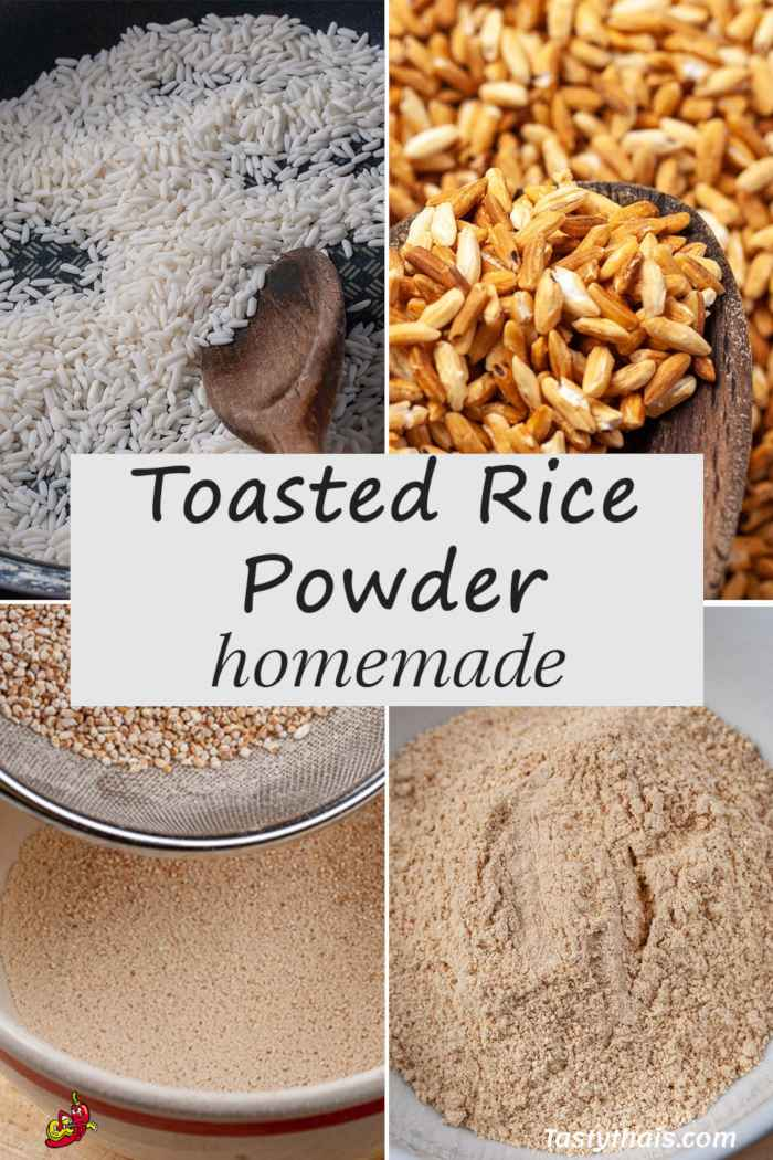 Making Roasted Rice Powder step by step