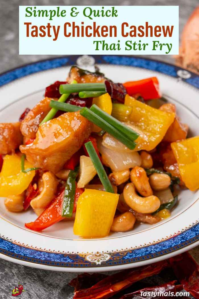 Stir Fried Chicken with Cashew Nuts Thai Style
