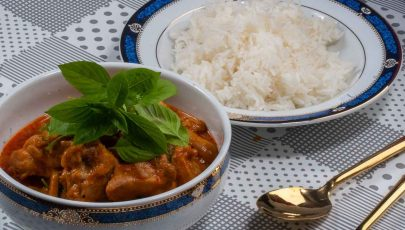 Thai Coconut Chicken Curry Recipe with Pumpkin - Filling Thai Red Curry