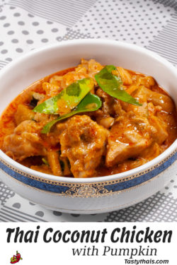 Thai Coconut Chicken Curry with Pumpkin Pin