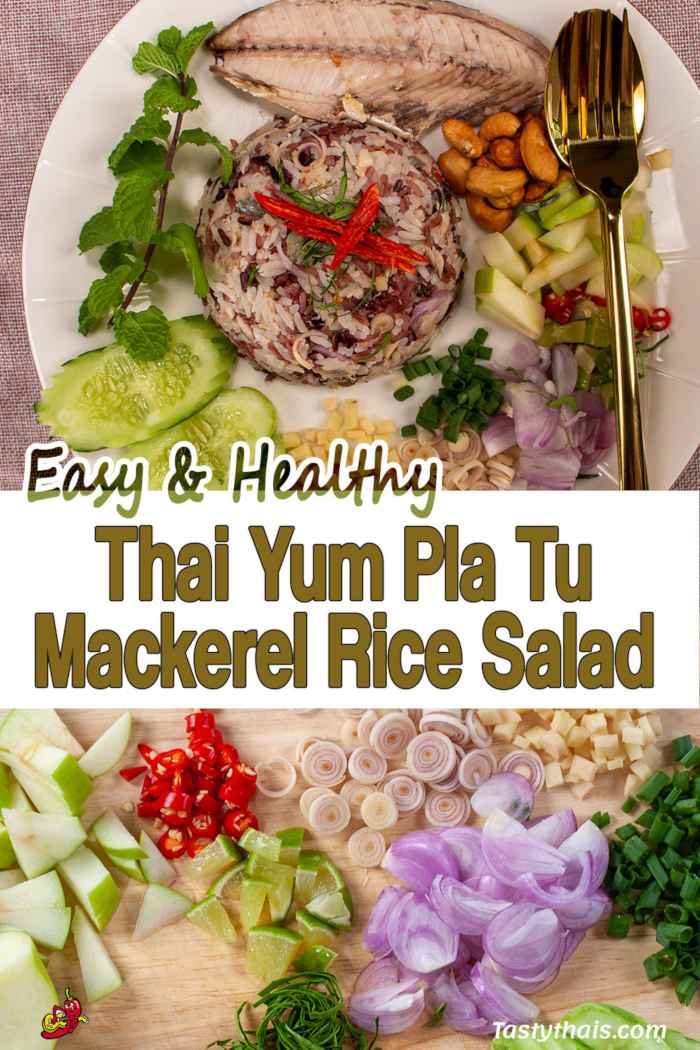 Thai Mackerel Rice Salad is Easy to Make and Healthy as well as tasty with many sides to select from