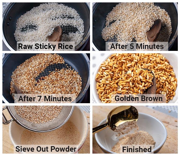 Homemade Toasted Rice Powder Recipe - Aromatic Toasted Rice Powder