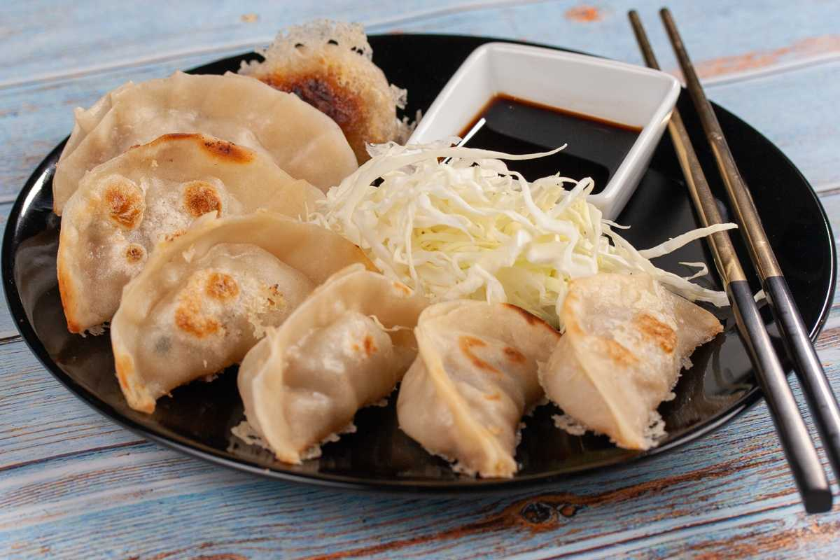 Pan Fried and Steamed Gyoza Dumplings Recipe