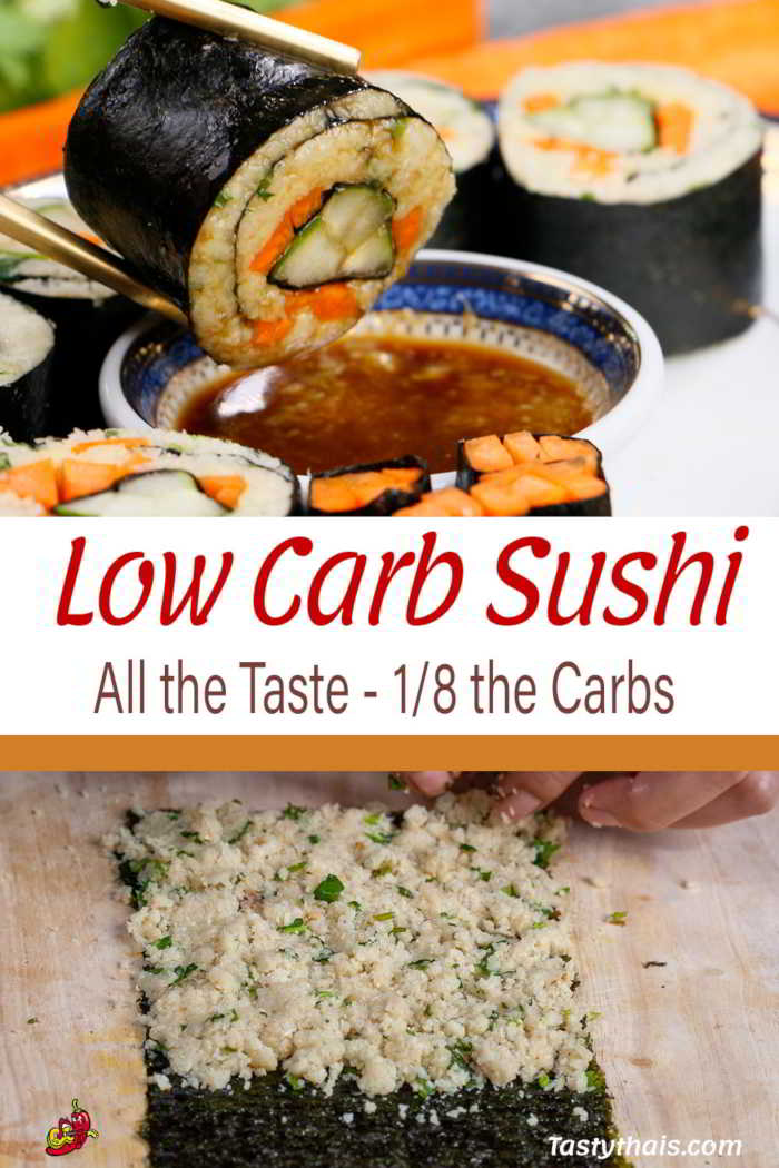 low Car Sushi One Eith the carbs of regular sushi