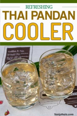 A delicious and aromatic Thai cooling refresher made from pandan leaves
