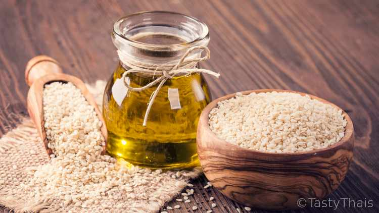 Sesame oil an ingredient often used for flavour in Thai food
