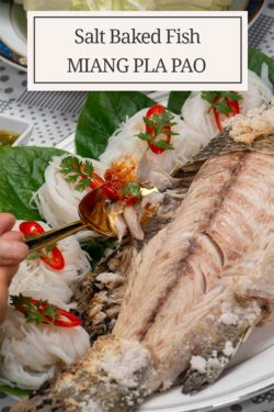 Thai Style Salt Baked Fish