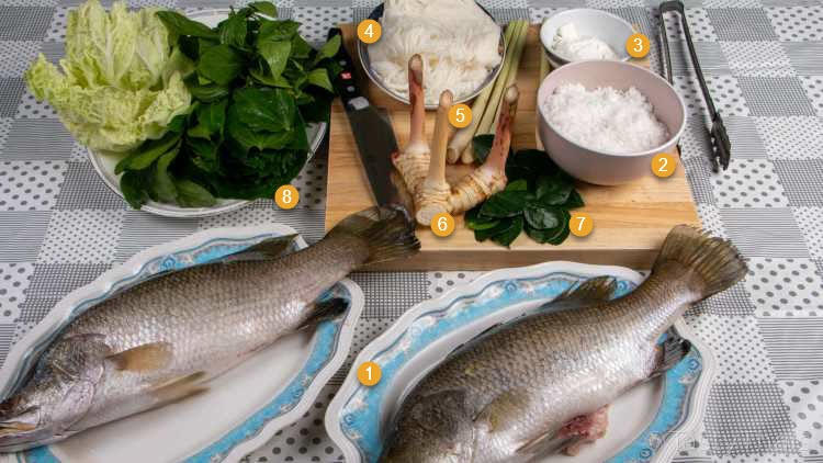 Ingredients for Salt baked Fish
