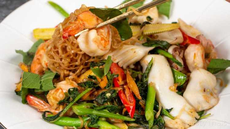 Drunken Noodles are called Pad Kee Mao in Thai