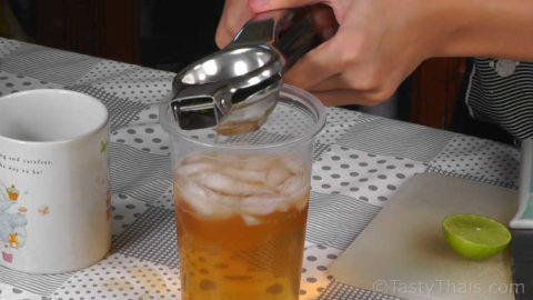 Add the Lime juice or lemon juice to make the Iced Tea