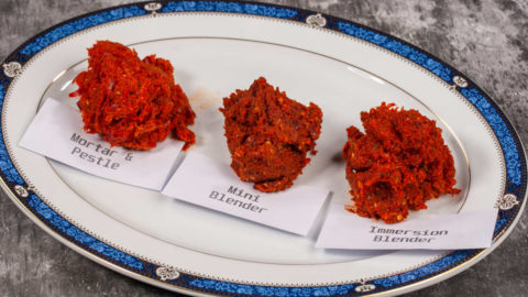 Thai red curry paste - 3 preparation methods compared