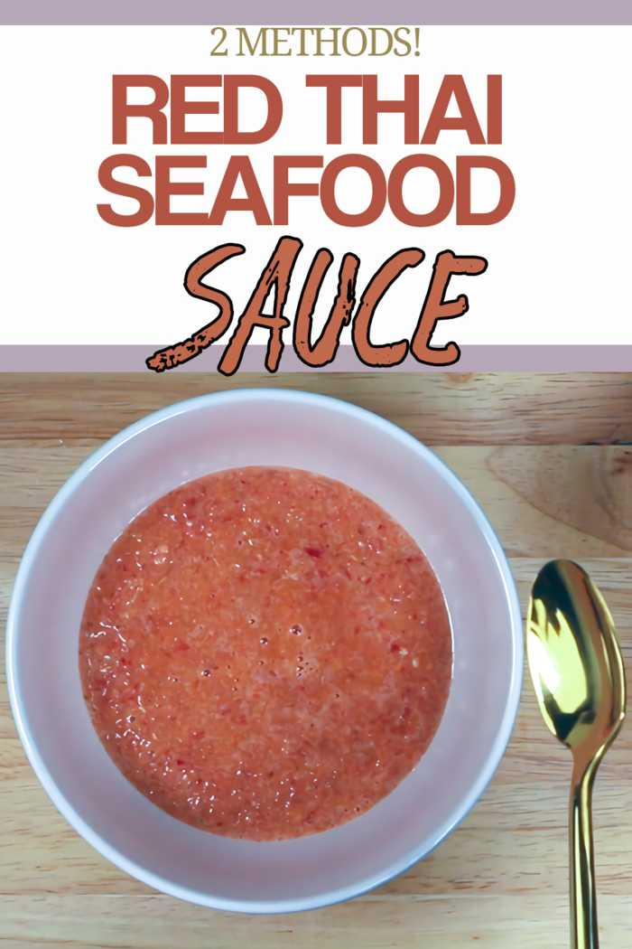 Spicy seafood dipping sauce alternative to the green version