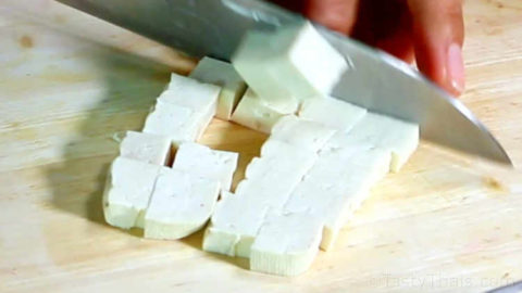Cutting up the Tofu