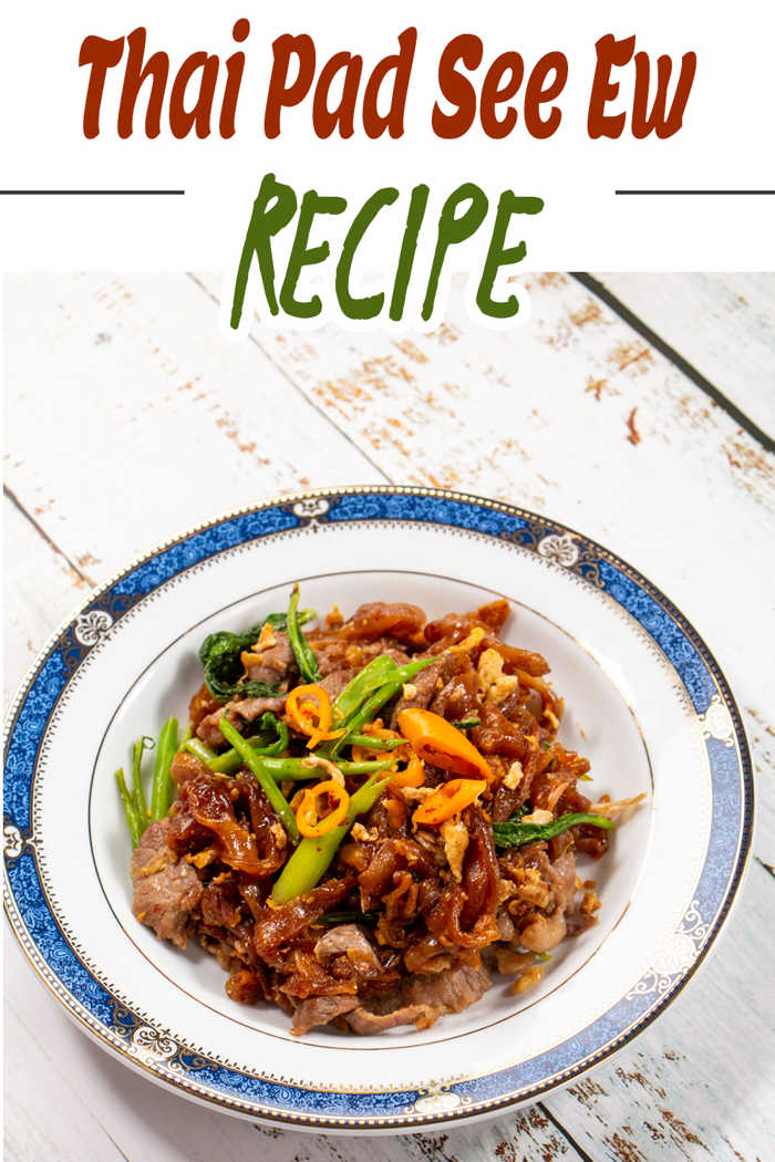 Image of Stir Fried Thai Rice Noodles with Dark Soy Sauce
